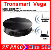 Wholesale Amlogic S802 Tronsmart Vega Elite S89 GHz Quad Core TV BOX Android TV BOX G RAM G ROM Bluetooth Android Support XBMC