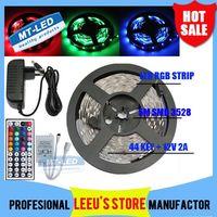 Wholesale DHL RGB RGB M Leds Led light Strip lighting Waterproof Keys IR Remote Controller V A Power Supply Plug