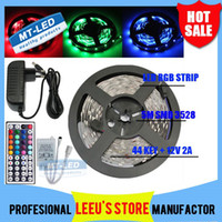 Wholesale IP65 IIP20 RGB M Leds WW CW R G B Y Led light Strip lighting Waterproof Keys IR Remote Controller V A Power Supply Plug