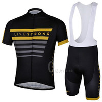 Wholesale New Team Livestrong Challenge Cycling Jersey Cycling Bib Shorts Kit Short Sleeve Cycling Clothing Set SIZE S XXXL