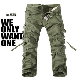 Wholesale Multiple pockets cotton straight outdoor leisure pants trousers
