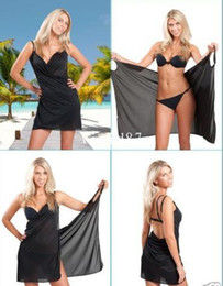 Wholesale Fashion summer beach bikini cover up sexy swimwear beach dress black mesh sheer slim yarn beachwear OEM can do many color