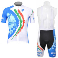 Wholesale 2012 BIANCHI Short Sleeve Cycling Jersey and Cycling Bib Shorts Kit Summer Cycling Clothing Set SIZE S XXXL
