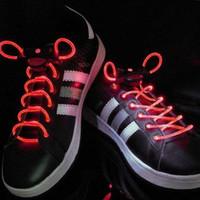 Family Shoelaces Red LED Light Up Shoe Shoelaces Christmas Party Xmas Gift LED Shoelaces Shoe Laces DISCO Party Skating