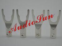 Y spade audio spade - 8 Speaker cable spade plug pure copper silver plated audio grade connectors