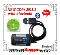 Engine Analyzer For BMW TCS CDP  with bluetooth! 2013.3 R3 version Grey CDP + KEYGEN in CD with flight and speaker function power adapter TCS CDP PRO Plus DHL freeshipping