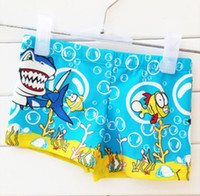 Boy Two-piece 2T-3T Free Shipping 2014 Summer New 2 colors Shark & Stitch style children's swimming trunks for boys & boys swimming trunks