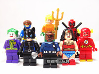 Wholesale Super Hero Figures Flash Diana Clown Wonder Woman Odin Deadpool Joker Catwoman Building Blocks Bricks