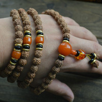 Wholesale 38 Fashion Tibetan Buddhist Jewelry mm Vajra Bodhi Beads Bracelets Prayer Mala Jewelry Wood Bracelet pc