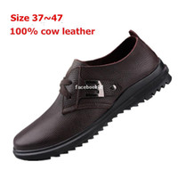 Wholesale Handcrafted Full grain leather men s Spring summer fashion shoes natural cowhide men s brand leather shoes
