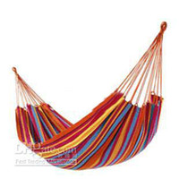 Nylon   New Popular Double camping hammock swing outdoor upset canvas hammock indoor recreational crane qwased