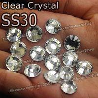 Wholesale Promotion SS30 Bag Clear Crystal DMC HotFix FlatBack Rhinestones glass strass DIY heat transfer Hot Fix crystals stones