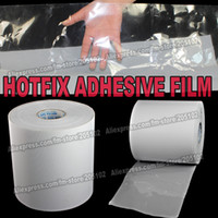 Wholesale Hot fix paper amp tape M length CM wide adhesive iron on heat transfer film super quality for HotFix rhinestones DIY tools