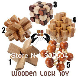 Wholesale Funny Chinese Traditional Wooden Educational Toys for Adult Children Intelligence Education Puzzle Lock Kids baby wood Toys