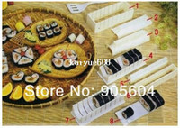 Handles & Knobs Ceramic ECO Friendly Sushi Master Maker Kit Rice Roll Mold Mould Making Japan Kitchen 10pcs set