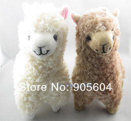 Wholesale 2 x Cute Alpaca Plush Toy Camel Cream Llama Stuffed Animal Kids Doll CM Height