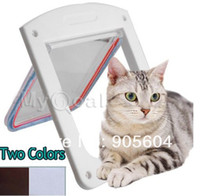 Wholesale 4 Way Locking Pet Dog Cat Flap Door Doggy Lockable Magnetic Tunnel Frame Porte