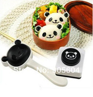 Wholesale Panda Shape Sushi Maker Rice Ball Onigiri Mold Mould Nori Punch DIY Bento