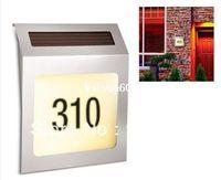 Wholesale Rethink Solar Powered Stainless Steel Address Light