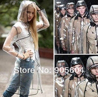 Plastic Raincoats Women Sexy Clear Fashion Rain Coat Women Girls Waterproof Jacket Raincoat Regenmantel