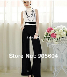 Wholesale Promotion Spring Trendy Fashion Womens Vintage Career Slim High Waist Flare Wide Leg Long Pants Ladies Palazzo Trousers