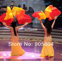 Wholesale chinese jepanese wood hand fan vintage big silk hand fan for wedding part dance folding hand fan HLDF0009
