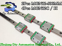 Yes 500mm 12mm 12mm Miniature linear guide MGN12 L500mm linear rail with 2pcs MGN12C H Long linear carriages block for CNC DIY and 3D printer