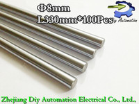 Chicken Yes Steel 100pcs 3D Printer Rod Shaft 8mm-L330mm Chrome Plated Cylinder Linear Rail Round Rod Shaft Linear Motion Shaft for 3D R0108
