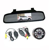 "Car Camera   Wireless Reversing Camera 9LED+ 4.3"" LCD Mirror Monitor Car Rear View Kit"