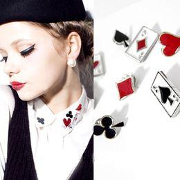 Wholesale Poker metal buckle decoration false collar pin stud