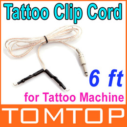 Wholesale 5 ft Clear Clip Cord for Tattoo Power Supply Machine Dropshipping