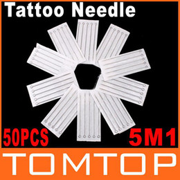 Wholesale 50 Disposable Round Shader Sterilized Tattoo Needles M1 Dropshipping
