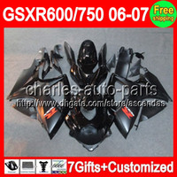 For Suzuki gsxr 600 fairing - 7gifts Seat cowl For SUZUKI GSXR ALL Black GSXR600 GSXR750 C L64 GSX R600 K6 Flat gloss black Fairing On Sale