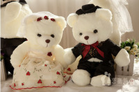 Wholesale new lovely Embroidered wedding bear lovers teddy bears stuffed animals plus toys kids toys dolls Valentines PC Gift cm cm cm