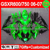 7gifts+ Seat cowl For SUZUKI GSXR 600 750 06- 07 Green black G...