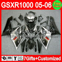 7gifts+ Seat cowl For SUZUKI GSXR1000 Black silver K5 05- 06 G...