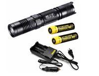 Cheap Free Shipping!Original Brand NiteCore P12 Cree XM-L2 Flashlight 950 Lumens+2*NL183 2300mAh Battery+i2 Charger