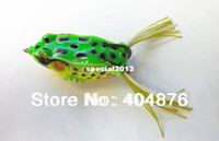 Cheap 6 Colors 20pcs SOFT forg lure (FO003) 55mm frog fishing lures plastic Fishing tackle 5.5CM 12.5G Chicken hook free shipping