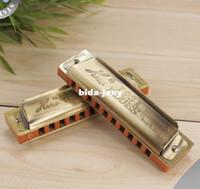 Wholesale HERO M1205 Bronze hole Blues Harmonica Diatonic Harmonica Mini Harmonica
