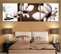Cheap 3 Piece free shipping Hot Sell Modern Wall Painting orchid flower Home Decorative home Art Picture Paint on Canvas Prints