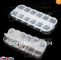 Wholesale 12 Compartment Empty Storage Case Box for Nail Art Glitter Rhinestones