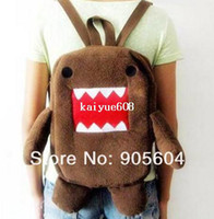 Backpacks Cotton Fabric Men Promotion!Lovely Domo Kun Figure Plush Backpack Soft Children's Shoulder School Bag Kids Pack Bags