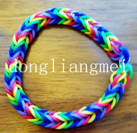 tie dye kit - 120pc Hot sell Rainbow Loom Kit and Tie Dye Rubber Bands Twistz Bands Rainbow Loom Christmas toys S03