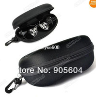 Wholesale New Zipper Eye Glasses Sunglasses Hard Case Box Black