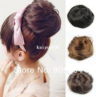 Wholesale Stylish Pony Tail Women Clip in on Hair Bun Hairpiece Hair Extension Scrunchie