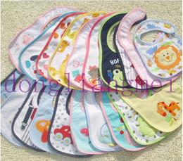 Wholesale 300pc Infant saliva towels layer Baby Waterproof bibs Baby wear accessories kids cotton apron handkerchief children animal bib S06