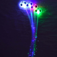 LED Light Hair Flashing Hairpin tire color fiber Luminous br...