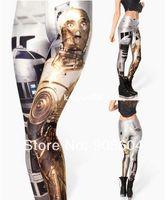 Wholesale 2014 NEW Fashion Designer Women s Star Wars Galaxy Digital Print Leggings Ladies Stretchy Skinny Tight Pant Punk Rock Trousers