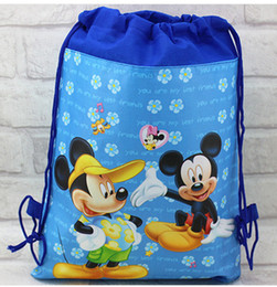 Hot sale new 12pcs Popular cartoon Bags Children School Bags Drawstring Backpack School Bag,Party Gift