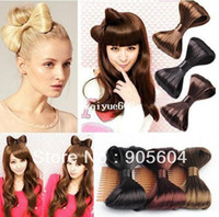 Wholesale Promotion Fashion Korean Hair Comb Bow Clip Extensions Hairpiece Synthetic Hair Ponytail Holder Women Brazilian Hair Accessories
